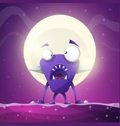 fear horror hell cartoon monster vector image vector image