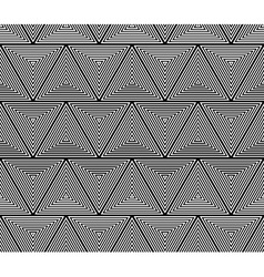 geometric triangles seamless pattern vector image vector image