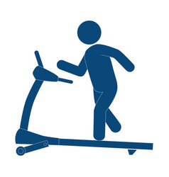 gym treadmill machine icon vector image