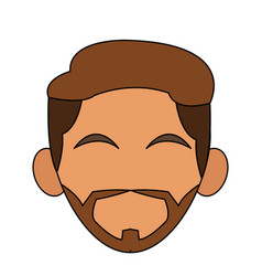 Head of man icon image vector
