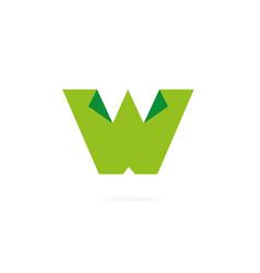 letter w logo design template elements cut paper vector image