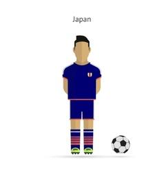 National football player Japan soccer team uniform vector image vector image