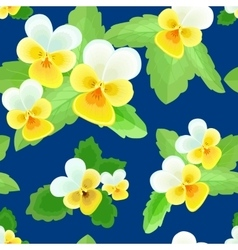 Pansies on a Dark Blue Background vector image