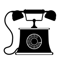 phone old retro vintage icon stock vector image