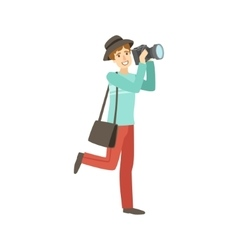 Professional photographer taking pictures with vector