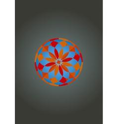 Psychedelic mandala vector