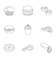 Refreshments snacks fast and other web icon in vector