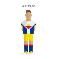 Saint-martin football player soccer uniform vector