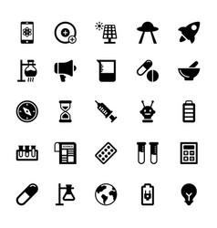 Science and technology glyph icons 7 vector