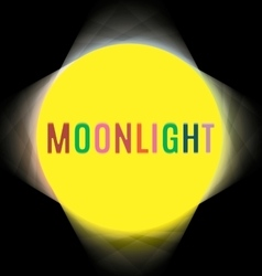 searchlights around the labels moonlight vector image