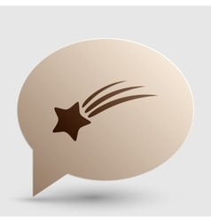 Shooting star sign brown gradient icon on bubble vector