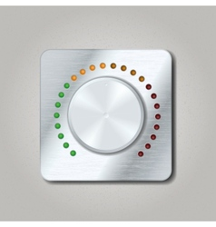 Square volume knob vector image