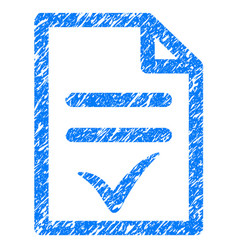 Valid document grunge icon vector