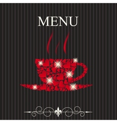 The concept of restaurant menu on valentines day vector