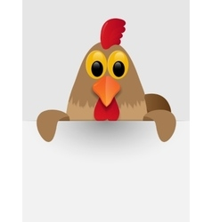 Rooster with place for you text vector
