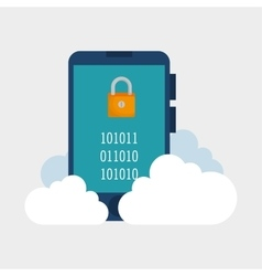 Cloud computing smartphone password lock vector