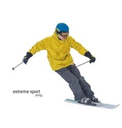 Skier on slope vector image
