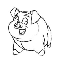 Isolated pork cartoon design vector