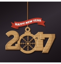 Happy new year 2017 poster vector