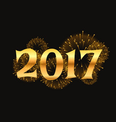 2017 new year celebration background with golden vector