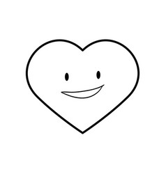 heart funny cartoon vector image