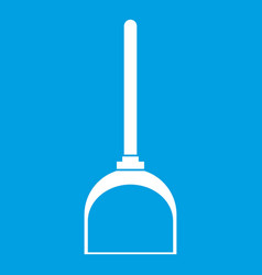 Scoop for cleaning icon white vector