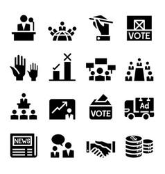 Voting democracy election icon vector