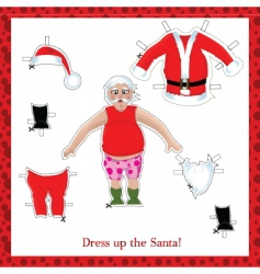 Santa dress up vector