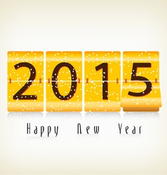 Happy new year 2015 mechanical flip clock design vector