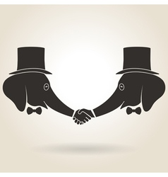 Abstract handshake vector