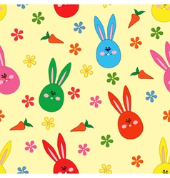 Seamless pattern with easter motif vector