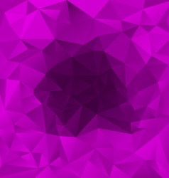 Purple perspective polygonal triangular pattern vector