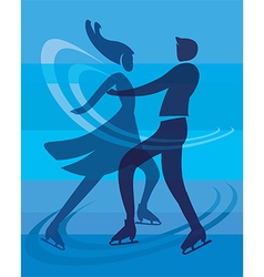Ice skating skaters vector
