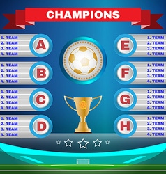 Soccer champions template vector