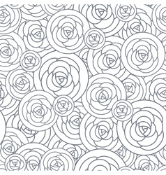 Seamless pattern with outline decorative vector