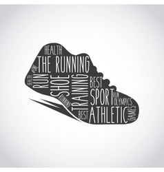 Runner shoes design vector