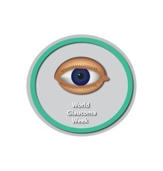 World glaucoma week 6 -12 march eye baner vector