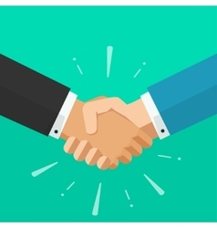 Business shaking hands  symbol of success vector