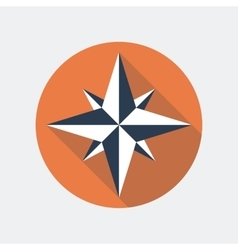 Wind rose flat icon vector