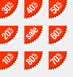 Discount labels vector