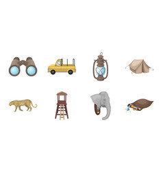 african safari icons in set collection for design vector image vector image