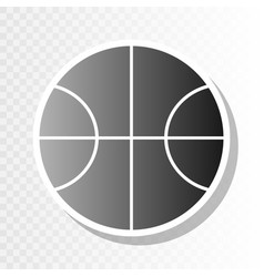 basketball ball sign new vector image vector image