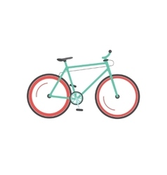 Bicycle isolated mountain vector image
