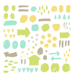 Big awesome set of grunge paint elements vector