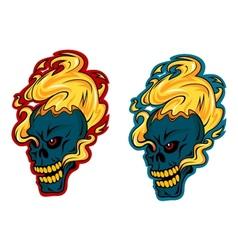 Blazing skulls characters vector image vector image