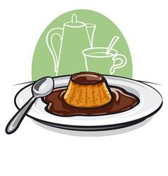 caramel custard vector image