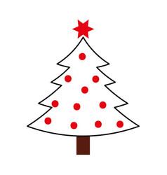 christmas tree pine natural decoration celebration vector image
