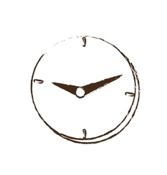 Clock time business money design sketch vector