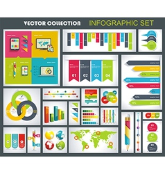 Collection of quality Infographics Design vector image vector image