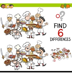 difference game with chefs vector image vector image